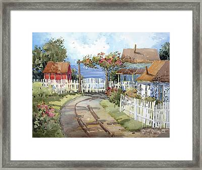 Pacific Out Back Framed Print by Joyce Hicks