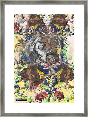 Pain Framed Print by Miguel Rodriguez