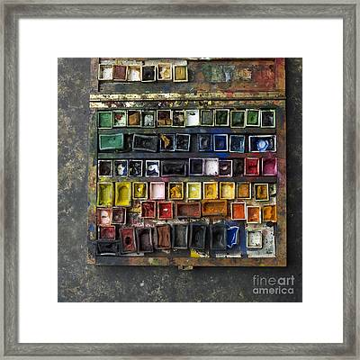 Paint Box Framed Print by Bernard Jaubert