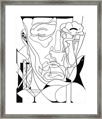 Paint By Number Las Vegas Framed Print