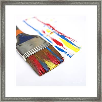 Paintbrush Framed Print by Bernard Jaubert
