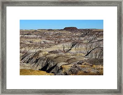 Painted Desert In Petrified Forest National Park Poster Edges Framed Print