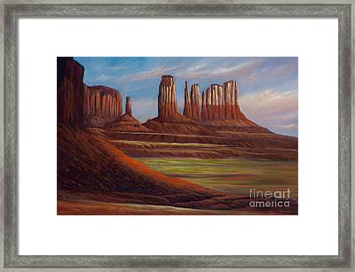 Painted Monuments Framed Print