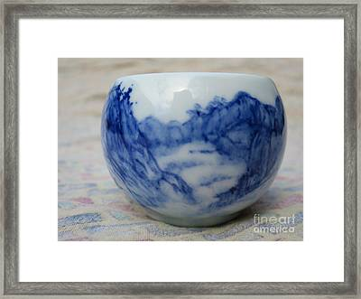 Painting On Ceramic Framed Print