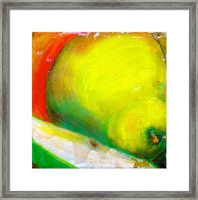 Pair Of Pears Framed Print by Debi Starr