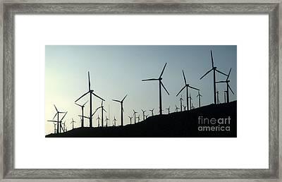 Palm Desert Wind Mills Framed Print by Gregory Dyer