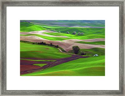 Palouse View From Steptoe Butte Framed Print by Michel Hersen