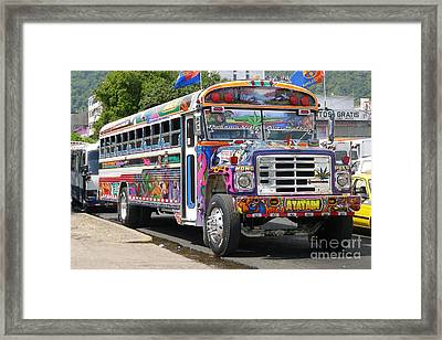 Panama Antigua Bus Framed Print