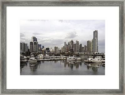Panama City Skyline. Panama. Framed Print by Fernando Barozza