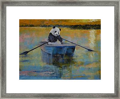 Panda Reflections Framed Print by Michael Creese