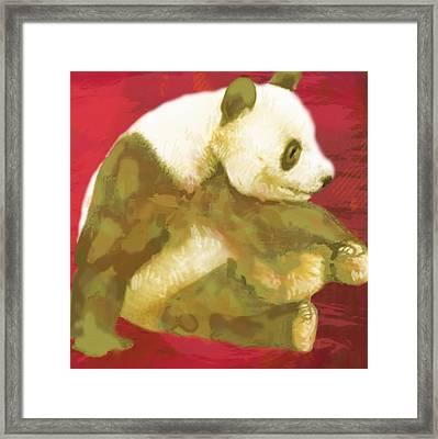 Panda - Stylised Drawing Art Poster Framed Print