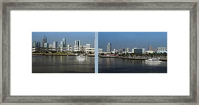 2 Panel Shoreline Long Beach Ca 02 Framed Print by Thomas Woolworth