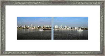 2 Panel Shoreline Long Beach Ca 03 Framed Print by Thomas Woolworth