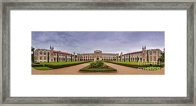 Panorama Of Rice University Academic Quad - Houston Texas Framed Print