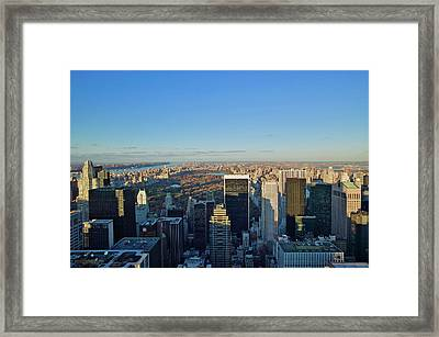 Panoramic Views Of New York City Framed Print