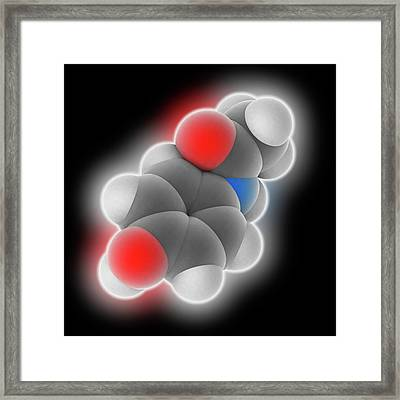 Paracetamol Drug Molecule Framed Print by Laguna Design