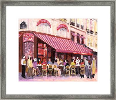 Paris Cafe Bar Framed Print