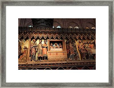Paris France - Notre Dame De Paris - 011311 Framed Print by DC Photographer