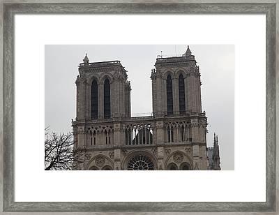 Paris France - Notre Dame De Paris - 01133 Framed Print by DC Photographer