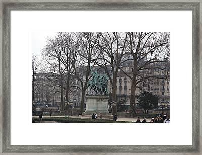 Paris France - Notre Dame De Paris - 01136 Framed Print by DC Photographer