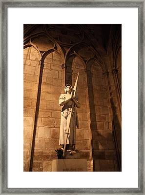 Paris France - Notre Dame De Paris - 01137 Framed Print