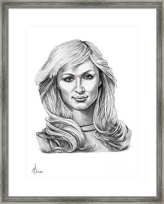 Paris Hilton Framed Print by Murphy Elliott