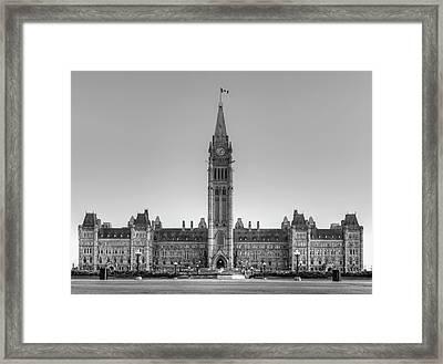 Parliament Buildings Of Canada  Ottawa Framed Print