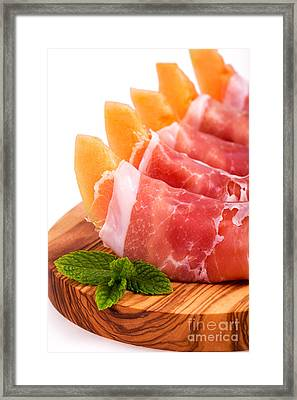 Parma Ham And Melon Framed Print