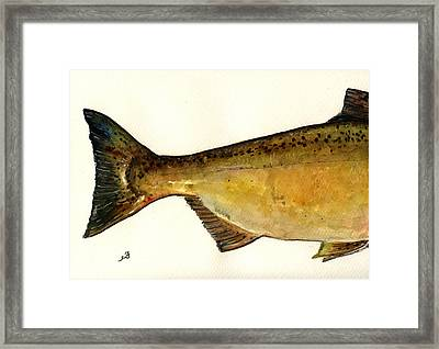 2 Part Chinook King Salmon Framed Print by Juan  Bosco