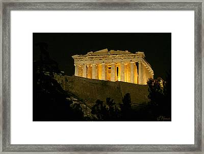Parthenon Framed Print by Ellen Henneke