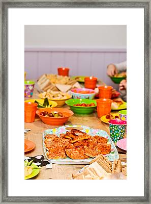 Party Food Framed Print