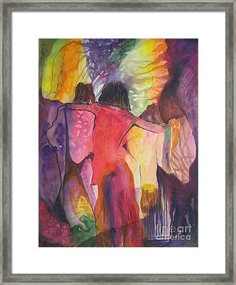 Framed Print featuring the painting Passage by Diana Bursztein
