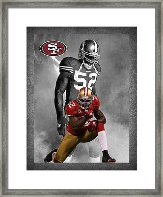 Patrick Willis 49ers Framed Print by Joe Hamilton