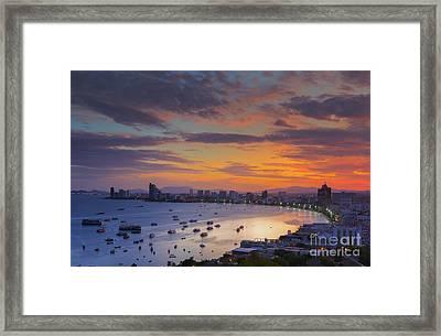 Pattaya City Framed Print by Anek Suwannaphoom