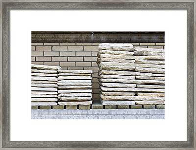 Paving Slabs Framed Print