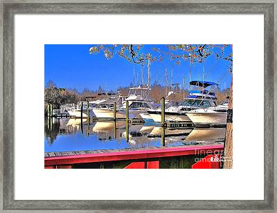 Peaceful Marina Framed Print