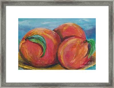 Peaches Framed Print by Eric  Schiabor