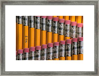 #2 Pencils  Standing Up Framed Print by Anonymous