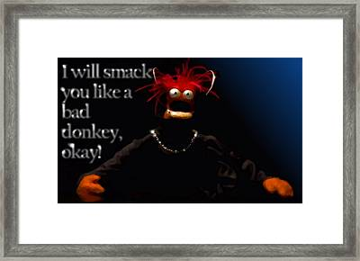 Pepe - The Prawn Framed Print by Marcello Cicchini