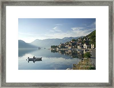 Perast Village In Montenegro Framed Print