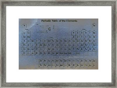 Periodic Table Of The Elements Framed Print by T Lang