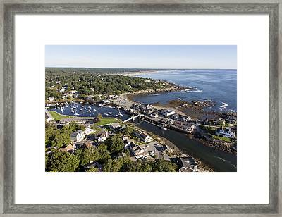 Perkins Cove, Ogunquit Framed Print by Dave Cleaveland
