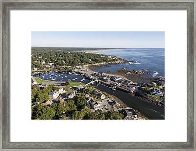 Perkins Cove, Ogunquit Framed Print