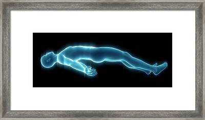 Person Lying Down Framed Print by Sebastian Kaulitzki