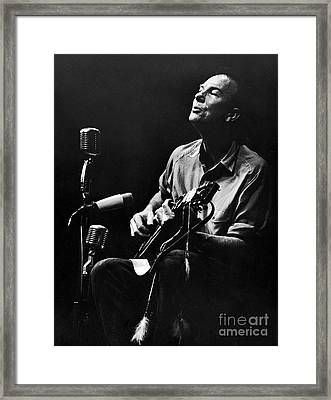 Pete Seeger Framed Print