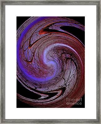 Peupliers En Spirale Framed Print
