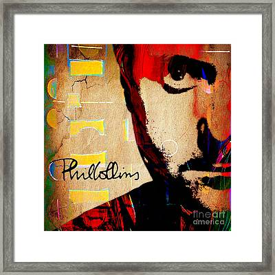 Phil Collins Collection Framed Print