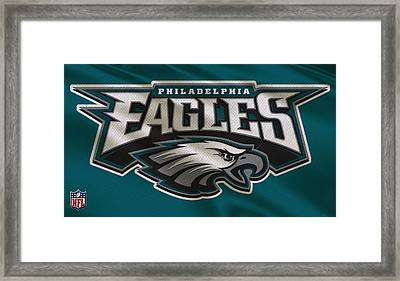 Philadelphia Eagles Uniform Framed Print by Joe Hamilton