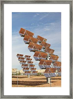 Photo Voltaic Panels Framed Print by Ashley Cooper