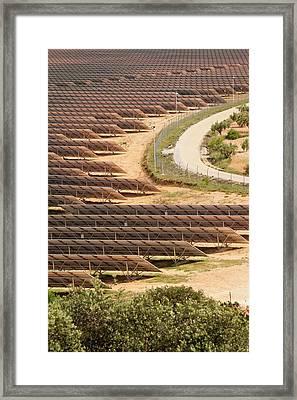 Photovoltaic Panels At Beneixama Framed Print